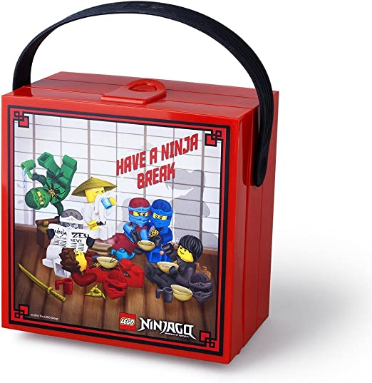 LEGO Ninjago Lunchbox with Handle Bright Red