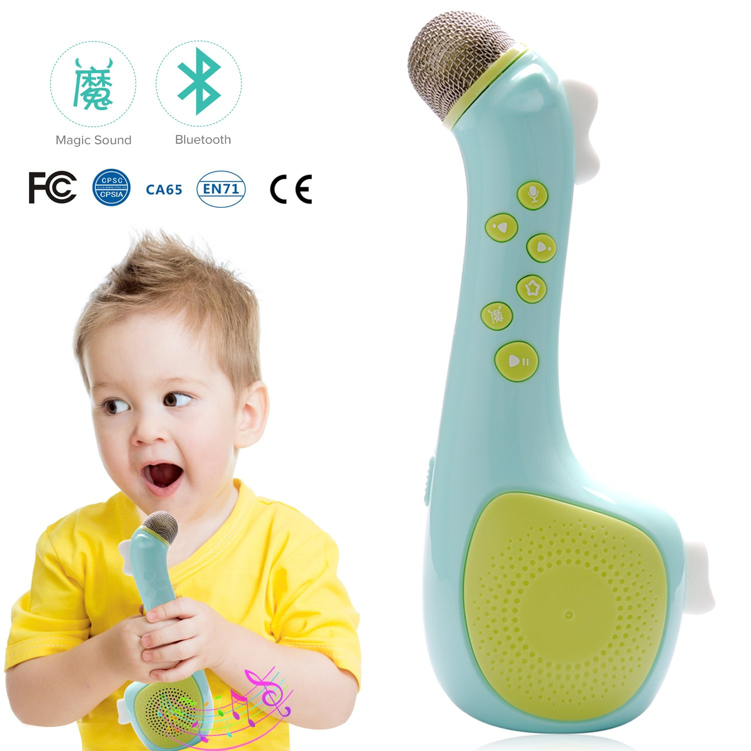 Kids Magic Microphone Speaker with Voice changing and recording by Termichy (Blue)