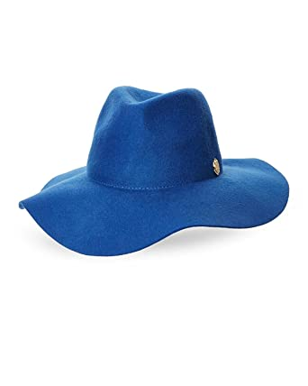 Image Unavailable. Image not available for. Color  VINCE CAMUTO WOOL FELT  PANAMA HAT DENIM BLUE 6ef7caa401ef