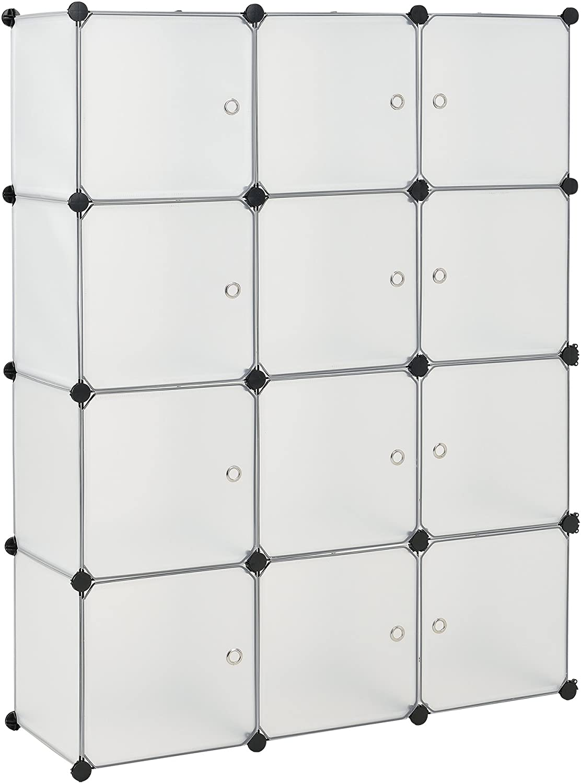 neu.haus] Estantería DIY con 12 compartimentos blanco/transparente (144x110cm) estantería ensamblable de plástico: Amazon.es: Juguetes y juegos