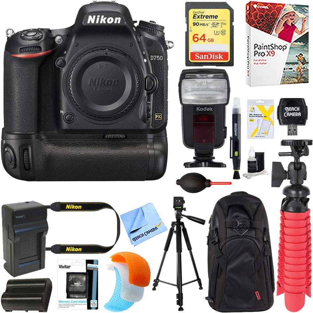 Nikon D750 FX-Format 24.3 MP Cámara réflex Digital (Solo Cuerpo) + ...