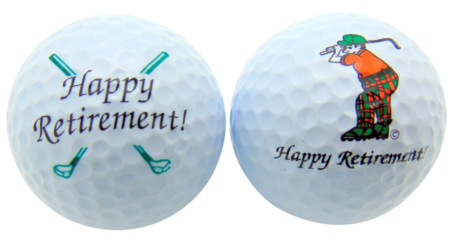 Westman Works Happy Retirement Set of 2 Golf Ball Golfer Gift Pack by Westman Works