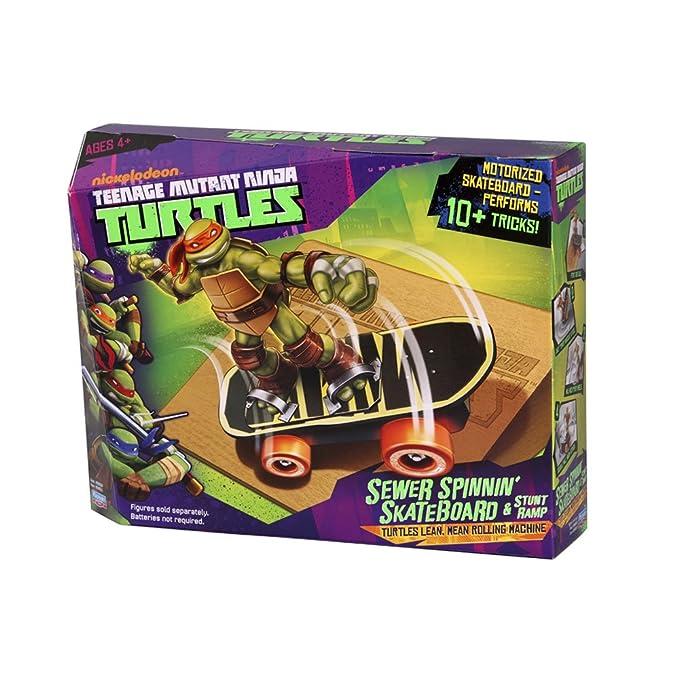 TORTUGAS NINJA Teenage Mutant Ninja Turtles 14094051 - Monopatín de alcantarillado y rampa (Incluye Figuras)