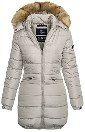 Navahoo Damen Winter Jacke Steppmantel Parka Langer Mantel Warm