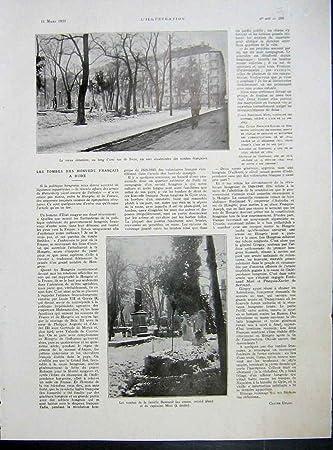 Impresión del Vintage del Francés 1933 de Bude Annunzio