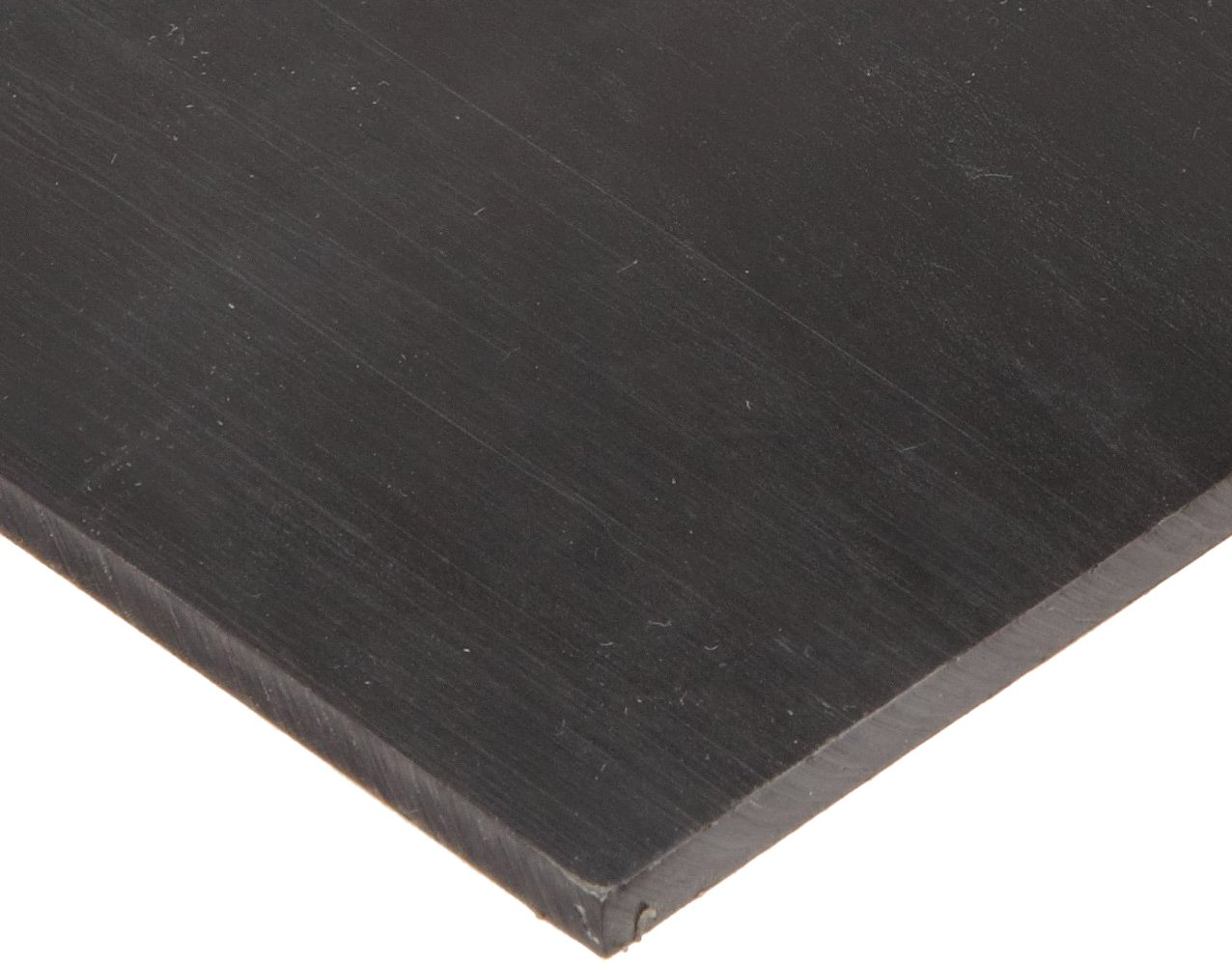 Smooth ASTM D-470 1 Width 20A Durometer Black 1 Thick Polyurethane Sheet 12 Length No Backing