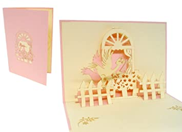 Lin pop up 3d greeting card to congratulate on a newborn baby girl lin pop up 3d greeting card to congratulate on a newborn baby girl stork at m4hsunfo