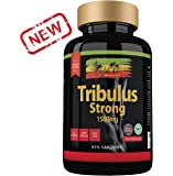 Tribulus Terrestris Strong Capsules - Maximum 95% Saponins with High Potency 1500mg per Tablet - British GMP Approved Muscle Growth, Strength & Stamina Boosting Supplements.