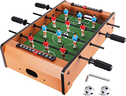 Wooden Mini Football Table Top Football Game Set Kid Toy Christmas Gift 20 inch