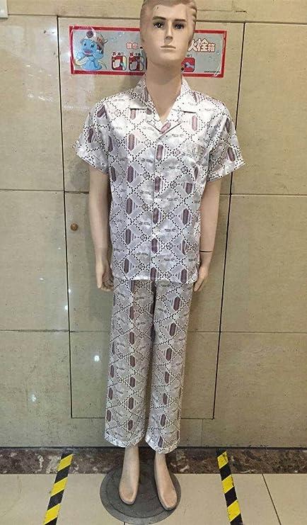Wanglele Seda Pijama Hombre De Sims Pijama Set Set De Dos Piezas De Seda Macho MenS