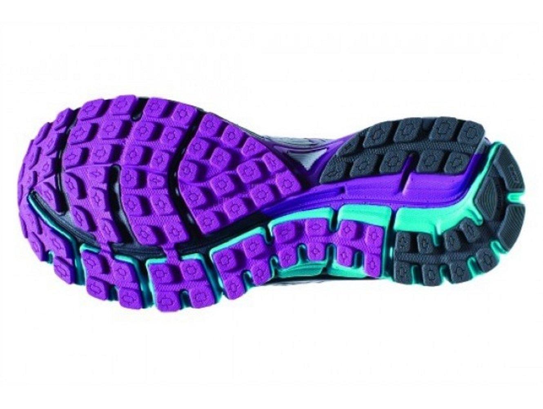 Brooks Women's Adrenaline GTS 17 Silver/Purple Cactus Flower/Bluebird 8 D US by Brooks (Image #3)