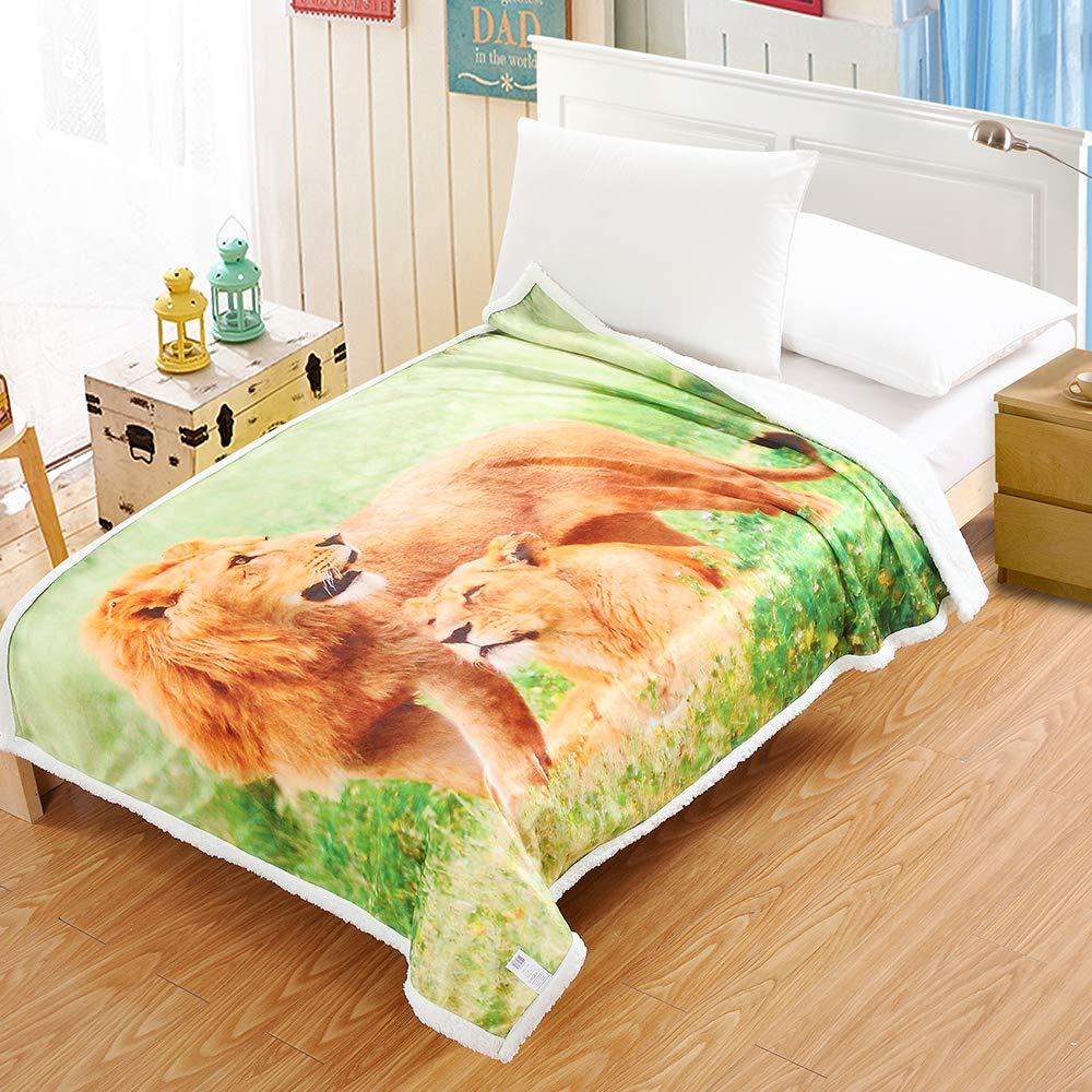 I Baby Adult Sherpa Throw Blanket Digital Printing Reversible Super Soft Lightweight Blanket Warm Microfiber All