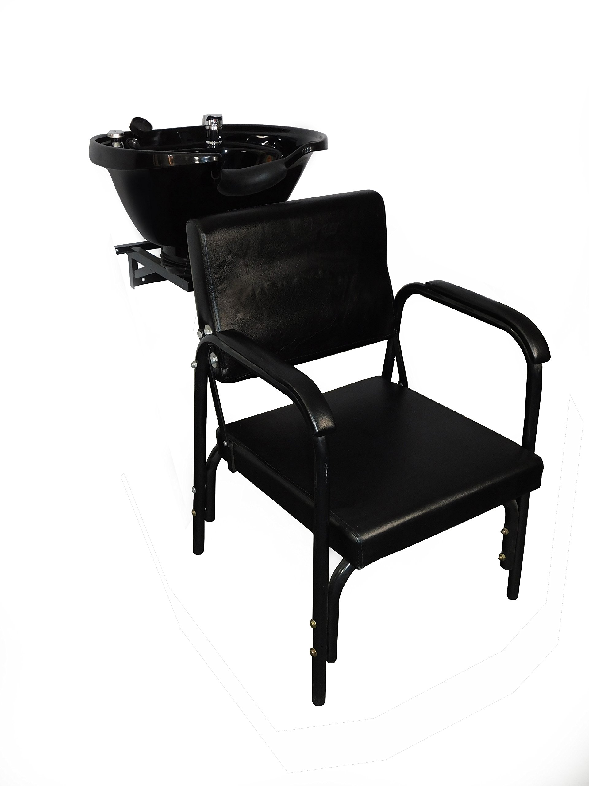Extra Large Salon Backwash Shampoo Tilt Bowl Sink Wall Mounted Easy Reclining Shampoo Chair TLC-B38WT-216