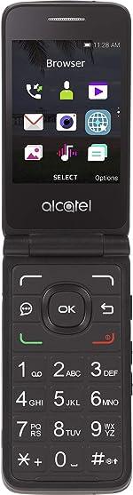 Simple Mobile Carrier-Locked Alcatel MyFlip 4G Prepaid Flip Phone- Black -