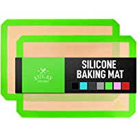Zulay Kitchen Silicone Baking Mats 2 Pack Light Green