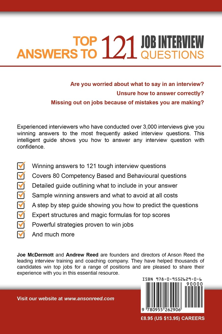 top answers to 121 job interview questions joe mcdermott andrew top answers to 121 job interview questions joe mcdermott andrew reed 9780955262906 amazon com books