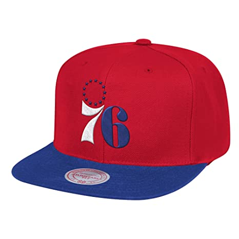 official photos f2a76 8c728 Amazon.com   Mitchell   Ness Philadelphia 76ers Wool 2 Tone Adjustable  Snapback Hat   Sports   Outdoors