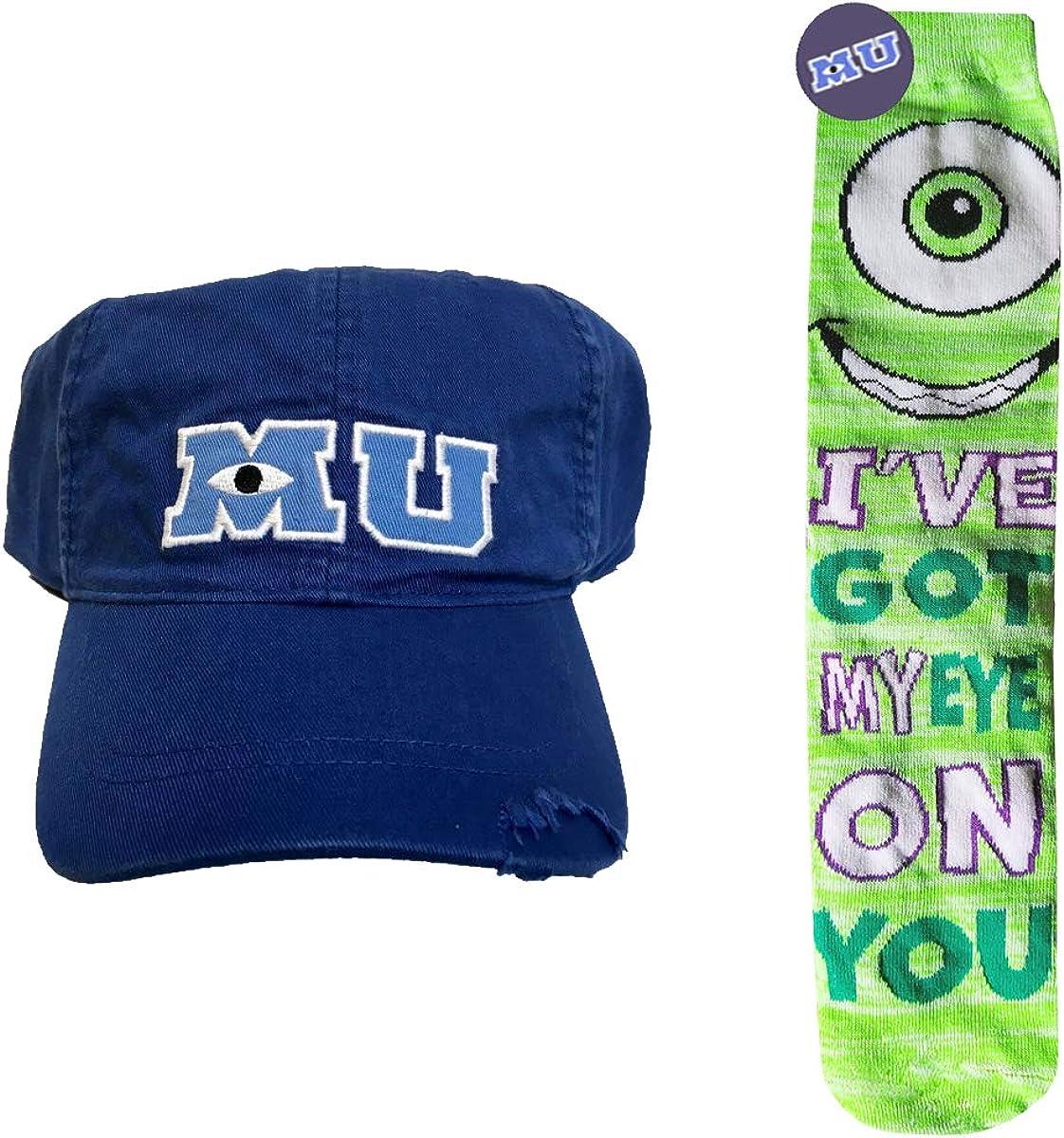 Disney Pixar Monsters University Mike Wazowski Socks And Mu Adults Bonus Disney Pixar Mystery Button Amazon De Bekleidung
