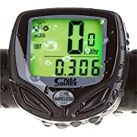 Fanmis Wireless Waterproof Backlight LCD Bike Computer Bicycle Speedometer Odometer With Multi Function by Fanmis