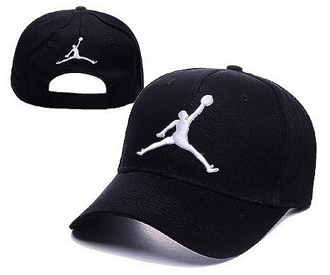 Cappello Air Jordan regolabile Hip Hop Sport Fans Hyst Unisex eresen  cappellino da Baseball (Nero 88138d286be1