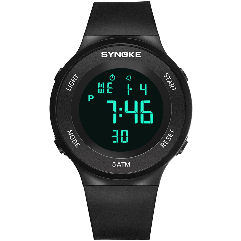 Dayllon Reloj Analógico de Cuarzo para Deportes al Aire Libre, Resistente al Agua, Digital, Multifuncional, con Retroiluminación LED, Alarma, Cronómetro