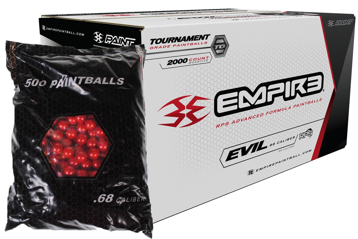 Empire Ultra Evil 2000 Paintballs (Red Shell Ultra Evil Yellow Fill) by Empire Paintball