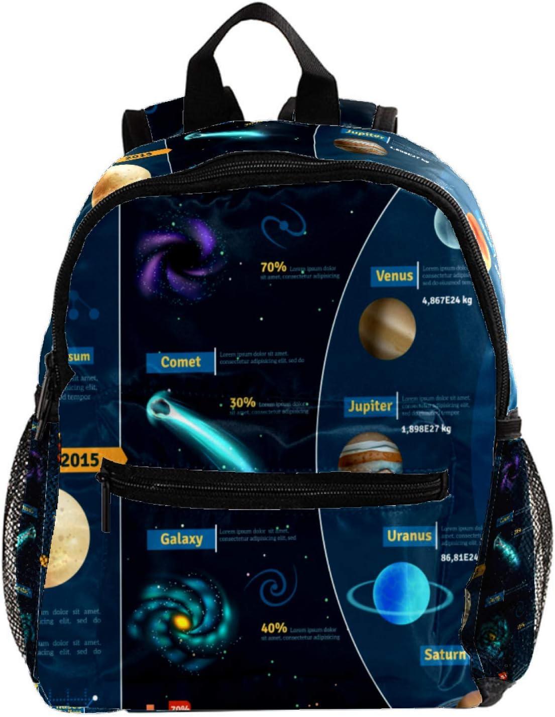 Mochila de espacio científico astronómico para niñas, mochilas escolares para niños, mochilas para niños, mochilas para niños, mochilas para niños, bolsas de viaje, lindo