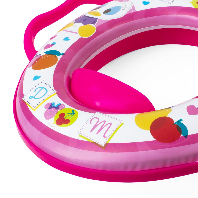 Minni Maus weicher gepolsterter WC Sitz rosa Baby Kinder Toilettenaufsatz