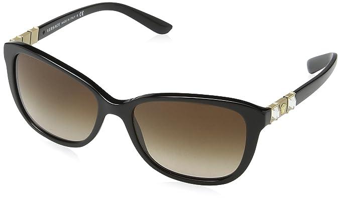 Versace 0Ve4293B Gafas de sol, Ojos de gato, 57, Black ...