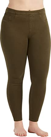 ca594386f8a94 SPANX Women s Plus Size Jean-ish Ankle Leggings at Amazon Women s ...