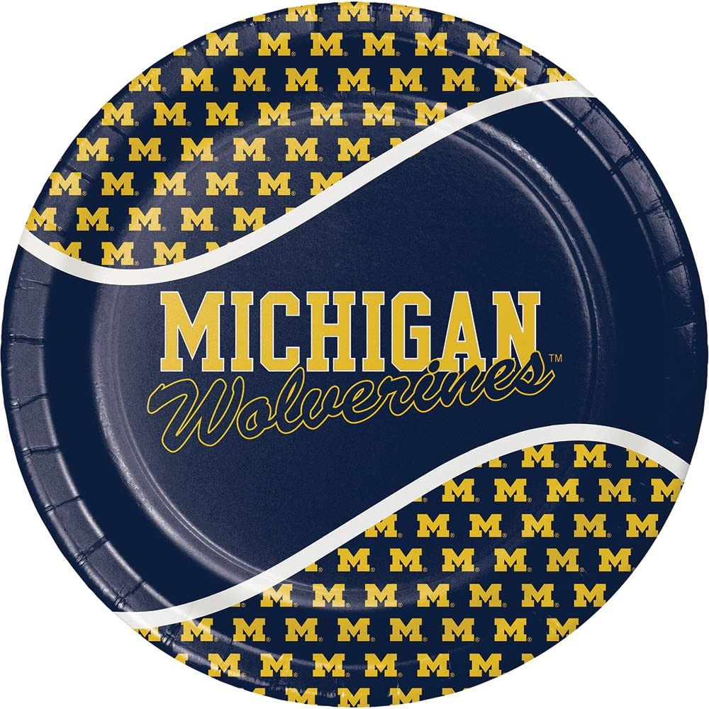 Creative Converting Michigan Wolverines Plastic Table Cover 54x108