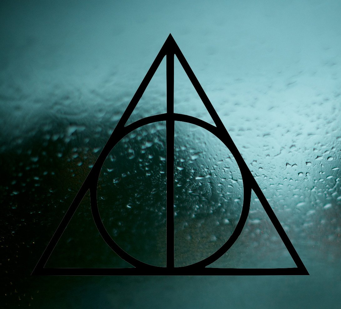 Harry potter vinyl car window decal deathly hallows symbol sticker harry potter vinyl car window decal deathly hallows symbol sticker magic black amazon car motorbike biocorpaavc Images