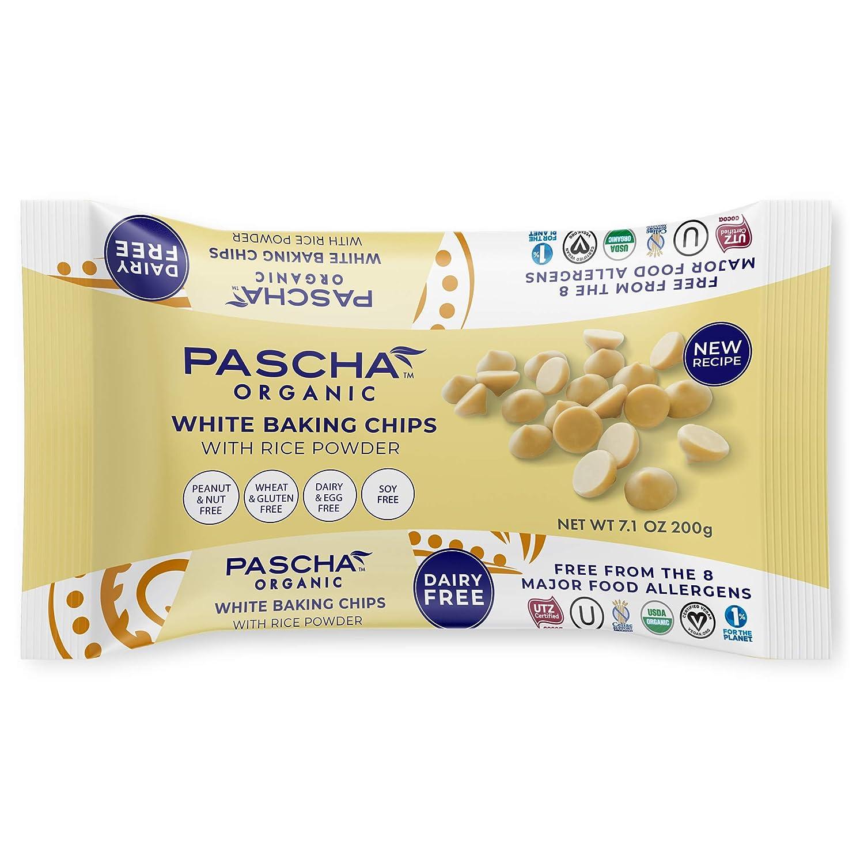 Pascha Organic Vegan White Chocolate Chip, UTZ, Gluten Free & Non GMO, 7.1 Ounce (Pack of 8)
