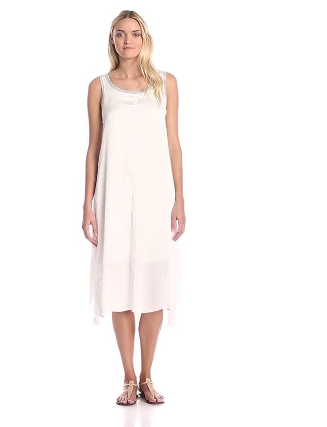 White Tank Midi Dress for Women