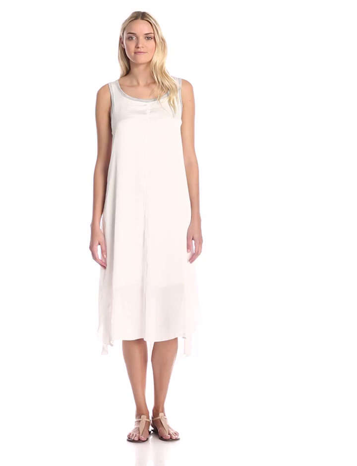 Amazon Com Splendid Women S Jersey Woven Colorblock Tank Midi Dress