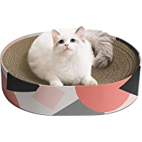 ComSaf Cat Scratcher Cardboard, Oval Corrugated Scratch Pad, Cat Scratching Lounge Bed, Durable Recycle Board for…
