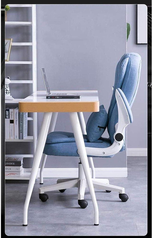 Barstolar Xiuyun kontorsstol spelstol svängbar stol, grå tyg dator skrivbord stol hög rygg verkställande uppdrag spelstol med armstöd - 5 färger svängbar stol (färg: Kaki) Brun