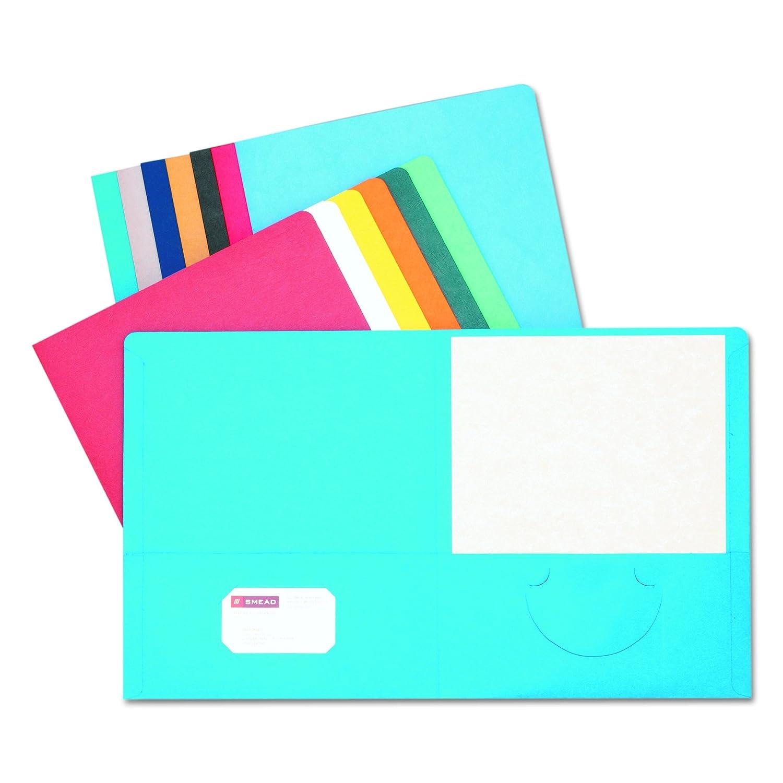Smead Two-Pocket Heavyweight Folder 87855 Letter Size 25 per Box Green