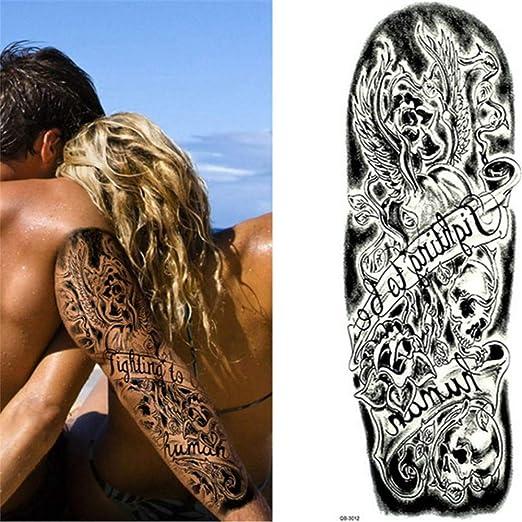 tzxdbh 3Pcs- Brazo Completo Flor Tatuajes Pegatinas Hombro Tatuaje ...