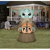 Star Wars The Mandalorian The Child Baby Yoda Halloween Airblown Inflatable