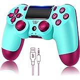 Controlador de jogo para PS4 sem fio Gamepad para PS4 / PS4 Pro / PC e laptop com vibração e função de áudio, mini indicador