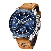 BENYAR - Stylish Wrist Watch for Men, Genuine Leather Strap Watches, Perfect Quartz...