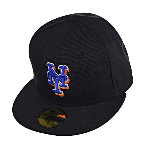 online retailer 30363 892d0 ... italy new era new york mets 59fifty mens fitted hat cap black blue  white 9e853 68a61 ...