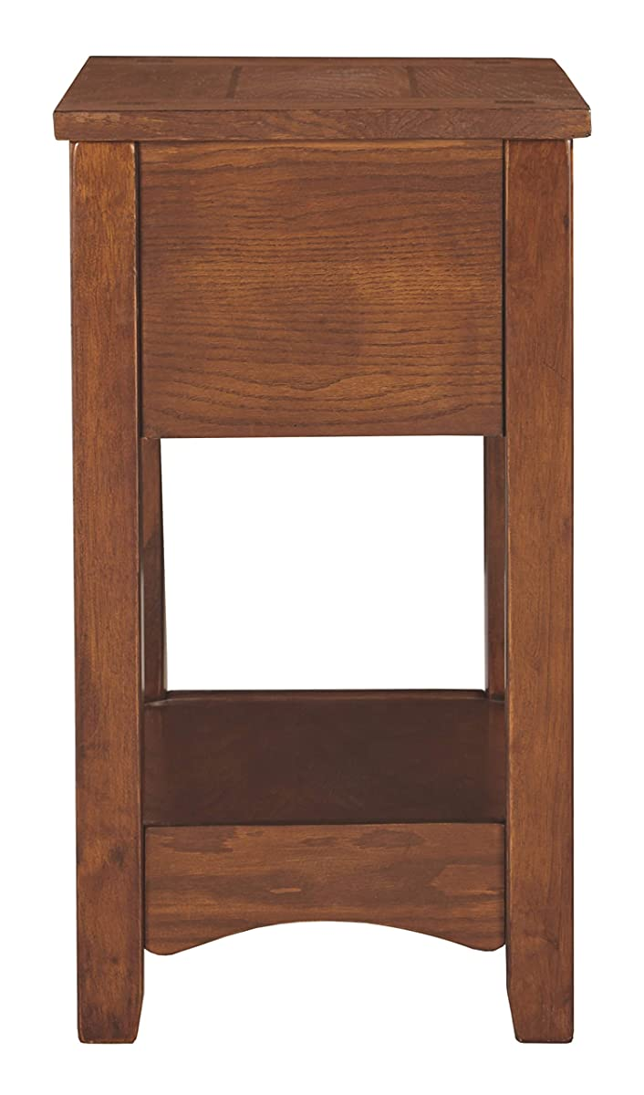 Ashley Furniture Signature Design - Breegin Chairside End Table - 1 Drawer - Contemporary - Brown