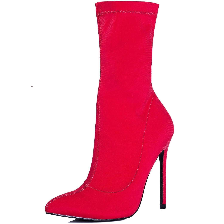 Spylovebuy Spylovebuy Spylovebuy Livia Damen Reissverschluss High Heel Stilettoabsatz Stiefeletten Schuhe 2ff7a5