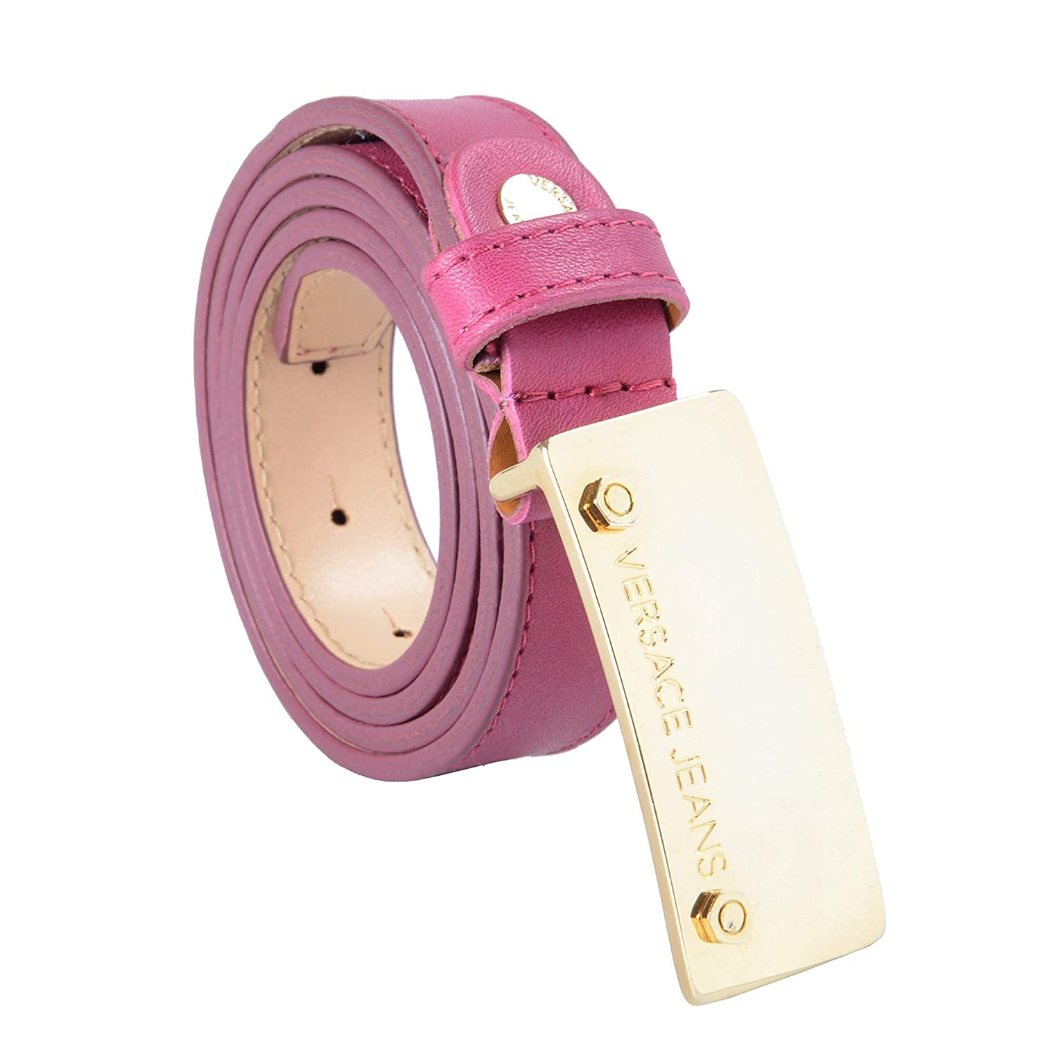 Versace Collection 100% Leather Pink Women's Belt US 85 IT 100