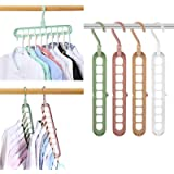 Magic Space Saving Clothes Hangers Multifunctional Smart Closet Organizer Premium Wardrobe Clothing Cascading Hanger 9 Slots,