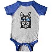 inktastic Siberian Husky Sketch Infant Creeper 12 Months Heather and Royal
