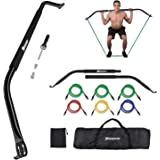 Bow Portable Home Gym Resistance Bands Fitness Equipment System with 6 Resistance Bands, Abdominal and Leg Muscle Training Ki
