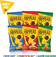 New HIPPEAS Organic Chickpea Snacks Variety Pack Tortilla Chips | 5 ounce, 6 count | Vegan, Gluten-Free, Crunchy, Protein Chi